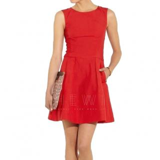 Alice By Temperley Red Cut-Out Mini Dress