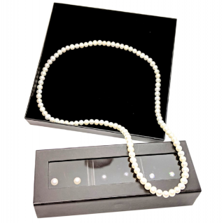 Bespoke Sterling Silver & Pearls Earrings & Necklaces Set