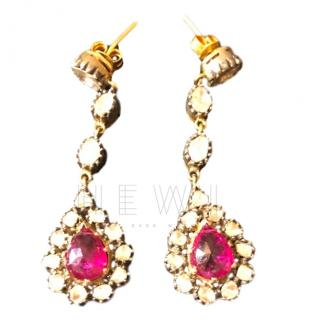 Amrapali Ruby & Diamond Earrings