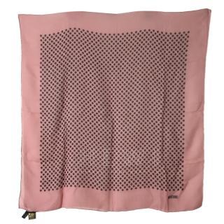 Moschino Pink Polka Dot Scarf