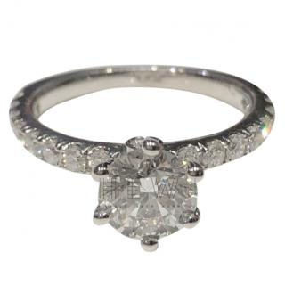 Bespoke 14ct White Gold Diamond Solitaire Ring