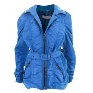 Burberry Blue Belted Jacket