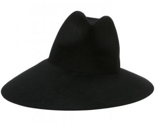 Gucci black wide-brim fur-felt hat