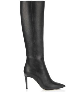 Jimmy Choo Lyonise 85 Black Leather Boots