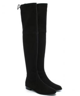 Stuart Weitzman Black Suede Lowland OTK Boots