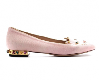 Charlotte Olympia Crystal Embellished Kitty Flats