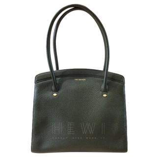 Lulu Guinness Olive Leather Top Handle Tote