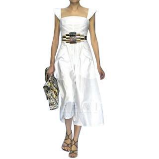 Fendi White Midi Dress