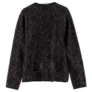 No.21 black lace jumper