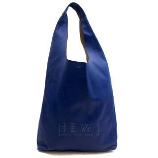 Celine Blue Soft Leather Shoulder Tote