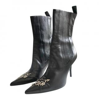 Dior Black Leather I Heart Dior Ankle Boots