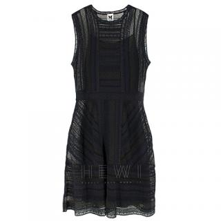 M Missoni Black Sleeveless Sheer Knit Dress