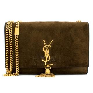 Saint Laurent Suede Kate Monogram Bag