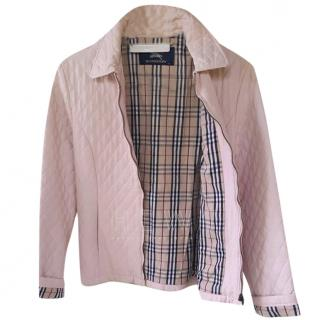 Burberry Pale Pink Quilted Jacket