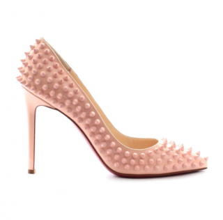 Christian Louboutin Baby Pink Spiked 105 Pumps
