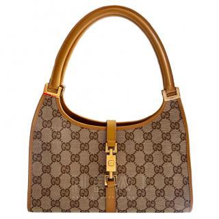 Gucci Monogram Supreme Vintage Top Handle Bag