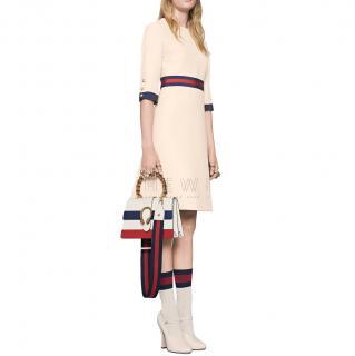 Gucci Wool Silk Web Dress - New Season