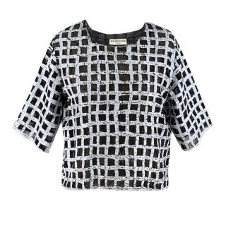 Balenciaga Crackled Check Top