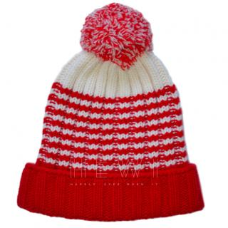 Gucci red & white wool hat