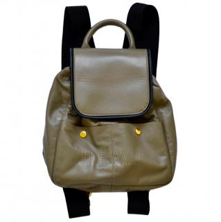 Marni Olive & Black Leather Backpack