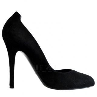 Ralph Lauren Collection black suede pumps
