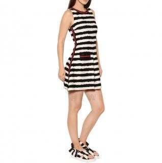 MSGM Striped Sleeveless Tweed Dress