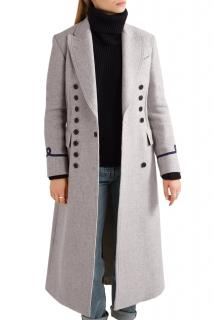 Joseph Grey Jacky Basket Weave Wool Coat