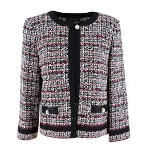 St.John flecked tweed jacket with pearl buttons