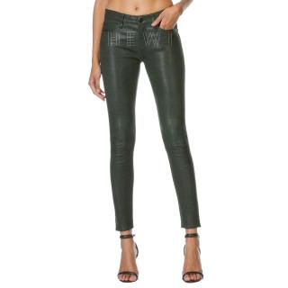 Frame Atelier Green Pine Leather 'Le Skinny de Jeanne' Pants
