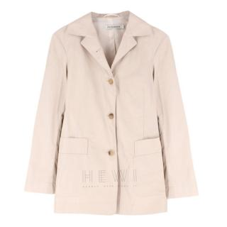 Jil Sander Beige Single-Breasted Coat