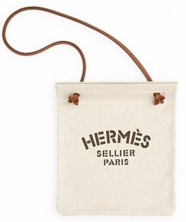 NEW Hermes Ivory Canvas Aline PM Tote Bag