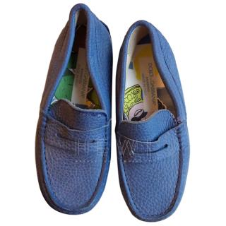 Dolce & Gabbana Blue Leather Boy's Loafers