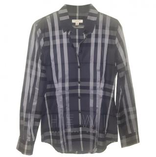 Burberry Grey Check Shirt
