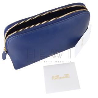 Diane Von Furstenberg Blue Cosmetics Pouch
