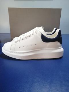 Alexander McQueen White & Black Platform Sneakers