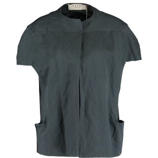 Marni cropped grey cotton  jacket