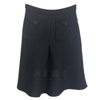 Paul & Joe Black Wool Skirt