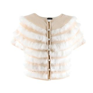 Fendi Wool & Pelliccia Fur Panelled Short Cardigan