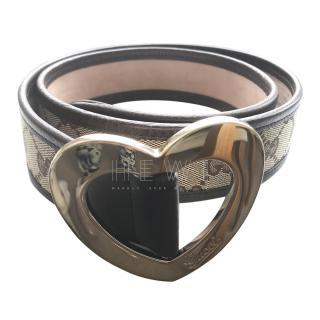 Gucci Monogram Heart Buckle Belt