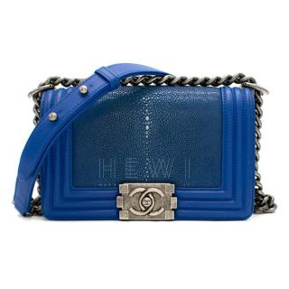 Chanel Electric Blue Limited Edition Stingray Le Boy Bag