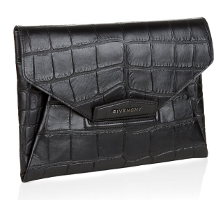 Givenchy Antigona Croc Print Envelope Clutch