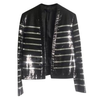 Balmain Men's SS18 Sample Sequin Striped Jacket