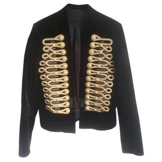 Balmain Men's SS18 Sample Velvet Rope Embroidered Jacket