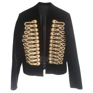 Balmain Men's SS18 Sample Velvet Rope Embroidered Jacket