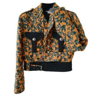 Versus Versace Textured Camo Bomber Jacket