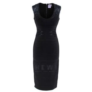 Herve Leger Janelle Starburst Sequined Dress