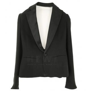 Ralph Lauren Cowl-Back Black Blazer