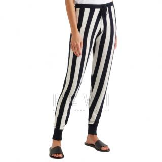 Madeleine Thompson Leonis striped cashmere track pants