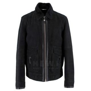 Ermenegildo Zegna Black Shearling Jacket