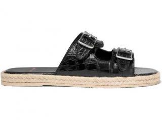 Saint Laurent croc-effect espadrille flat sandals